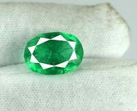 Green Emerald Zambian Loose Gemstone 8-10 Carat Natural Oval Cut AGI Certified
