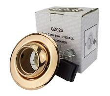 10x Click GU10 Recessed Downlight Spotlight Tiltable Eyeball w/LED-Copper Finish