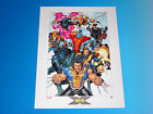 X-Men Lithograph by Salvador Larroca Marvel Comics Wolverine Colossus Cable