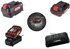 Batteria PARKSIDE X Team 20V 2Ah con caricatore, 4Ah Doppio caricabatteria rapid