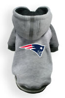 New England Patriots NFL Little Earth Production Dog Pet Crewneck Gray Hoodie