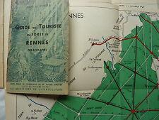 GUIDE du touriste en forêt de RENNES (ILLE et VILAINE)  - 1937