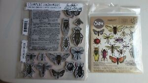 Bundle Lot Tim Holtz Entomology Die & Stamps 663068 CMS328 Sizzix & SA Insects