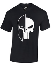 SPARTAN SKULL MENS T SHIRT BODYBUILDING TRAINING TOP GYM LIFTING MMA