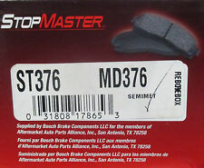 BRAND NEW STOP MASTER FRONT BRAKE PADS MD376 / D376 FITS VEHICLES ON CHART