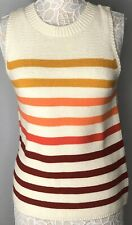 Lucky Brand Women's Ombré Sweater Shell Size:M Color: Ivory multi  NEW wtag
