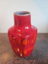 Vintage - Large Red Lava Vase - German - Pattern No. 520-21