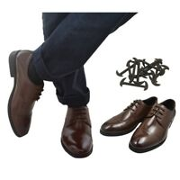 12 pcs No Tie Shoelaces Elastic Silicone Shoe Lace For Leather Shoes 3/4/5CM