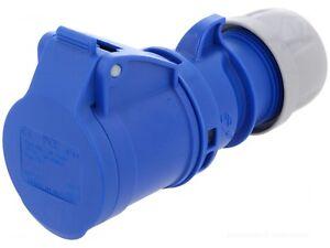 10x 16Amp PCE Socket Ceeform Female 16 A IP44 230v 240v Blue Bulk