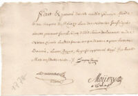 1778 King louis XVI royal notary autograph manuscript document NICE ready to fra