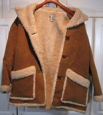 ~Vintage made in USA Fingerhut Fashions Sherpa Brown Womens sz 12 Jacket Coat