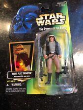 Star Wars POTF Rebel Fleet Trooper Power of The Force Green Card Damaged Card