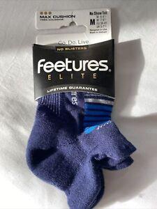 NWT Feetures Max Cushion Running Socks Sz M