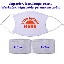 Customized Face Mask with filter Cloth Cover Mask Reusable Washable  Unisex