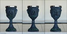 Maiden Mother Crone Chalice Wine Goblet Triple Moon Goddess Faux Stone