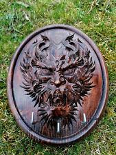 Wooden Door Hanger Wall Mount Hooks Key Holder devil demon evil handmade