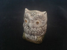 VINTAGE CERAMIC OWL APPROX. 3.5cm TALL MARKED JW TO BASE