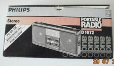 Vintage PHILLIPS Portable Stereo Radio D1672 (New Batteries inc.) LW-MW-FM