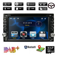 "GPS 6.2"" 2 DIN Car Stereo Bluetooth In Dash AM FM Radio DVD MP5 MP3 Player Touch"