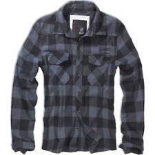 Camisas y polos de hombre de manga larga negro gris