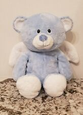 """2011 Soft TY PLUFFIES Baby Plush 10"""" SKY BLUE LITTLE ANGEL BEAR."""