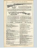 1922 Paper Ad Geha Shotgun Geco Bolt-Action Single Shot Rifle J L Galef NYC