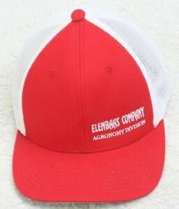 Port Authority Baseball Hat Cap Flex Fit Large / XL Red & White Elenbaas Company