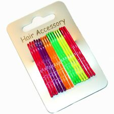 Lot de 18 pinces à cheveux couleurs fluo longeur 45mm - neon hair grips x 18