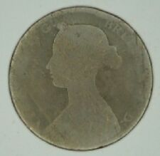 1861 QUEEN VICTORIA HALF PENNY ½d - YOUNG HEAD COIN (a)