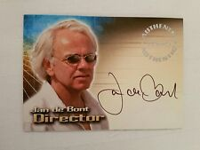 INKSWORK AUTOGRAPHED SIGNED TRADING CARD TOMB RAIDER JAN DE BONT DIRECTOR A6