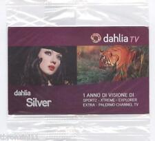 DAHLIA TV PACCHETTO SILVER SMART CARD PER UN ANNO PER COLLEZIONISTI