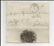 Di Prussia V./mengede 24/1, piccolo k1 (M. dat. - Str.) su piccolo gabinetto-lettera