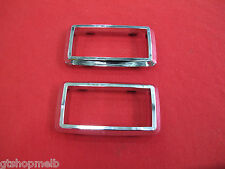 FORD FALCON INTERIOR DOOR HANDLE CHROME SURROUND SET OF 2 SUIT XA XB ZF ZG GT