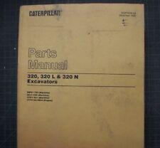 CAT Caterpillar 320 L N Excavator Parts Manual Catalog crawler trackhoe book