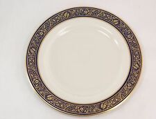 Lenox China Barclay Dinner Plate 10.5 Inches Ivory Cobalt Blue 24K Gold