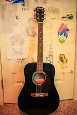 carlo robelli Black acoustic guitar