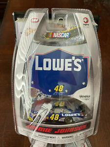 2009 Jimmie Johnson Lowes 1:64 scale car w/ hood WC Winner Circle