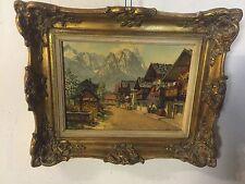 """Print Alpine Village Signed H.Theis Garmisch.13""""x10""""C12pix4Size/etc.MAKE OFFER"""