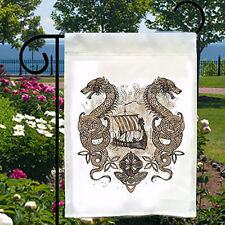Nordic Celtic Sailing Dragons New Small Garden Yard Flag Home Decor Gifts Events