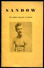 Sandow: The Mighty Monarch of Muscle Photo Album Book Gerard Nisivoccia Ex Cond