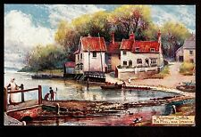 Tuck Picturesque Counties sign Jotter Pin Mill Ipswich Suffolk Uk postcard