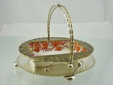 ROYAL DOULTON C8799 CHINA DISH IN CRIMPED EDGE PLATED FRAME BY DANIEL & ARTER