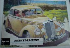MERCEDES BENZ TIPO 220 di 1951 dati tecnici prospetto SALES BROCHURE