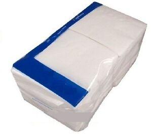 1 Ply White Paper Napkins Serviettes 33cm x 33cm x 1000