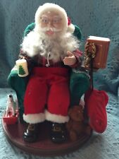 "VINTAGE 1999 AVON *SANTA READ ME A STORY"" ANIMATED FIGURE W/ACCESSORIES"