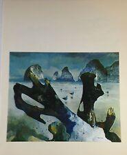 "1970 Vintage NORTHWEST Full Color Art Plate ""OREGON COAST BEACH"" McIntyre Litho"
