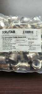 RUTAB IP55 cable brass nickle plated glands pack of 50
