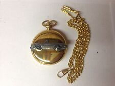 Alfa Romeo Spider Round Tail ref1  pewter effect emblem gold quartz pocket watch