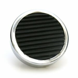 Round Billet Headlight Switch Dimmer High Beam Pedal Cover -   (Pad Only) muscle