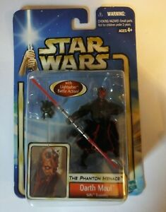 Darth Maul Theed Hangar Duel Star Wars SAGA 2003 Sith Figure